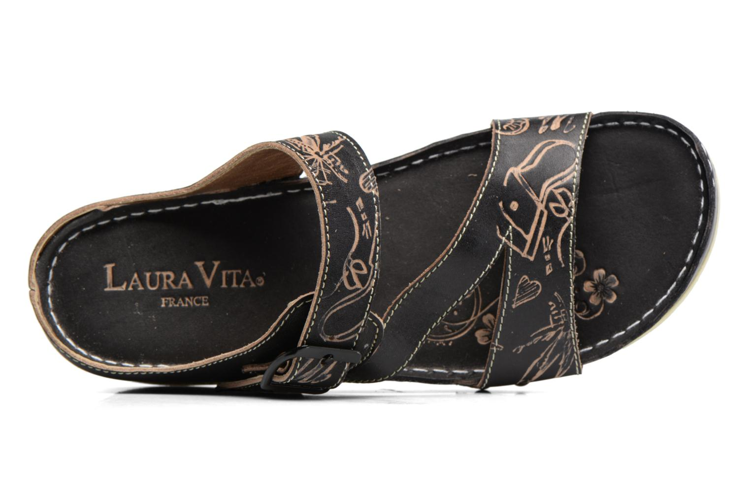 Mules & clogs Laura Vita Vallon Black view from the left