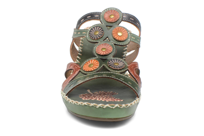Mules et sabots Laura Vita Vana Vert vue portées chaussures
