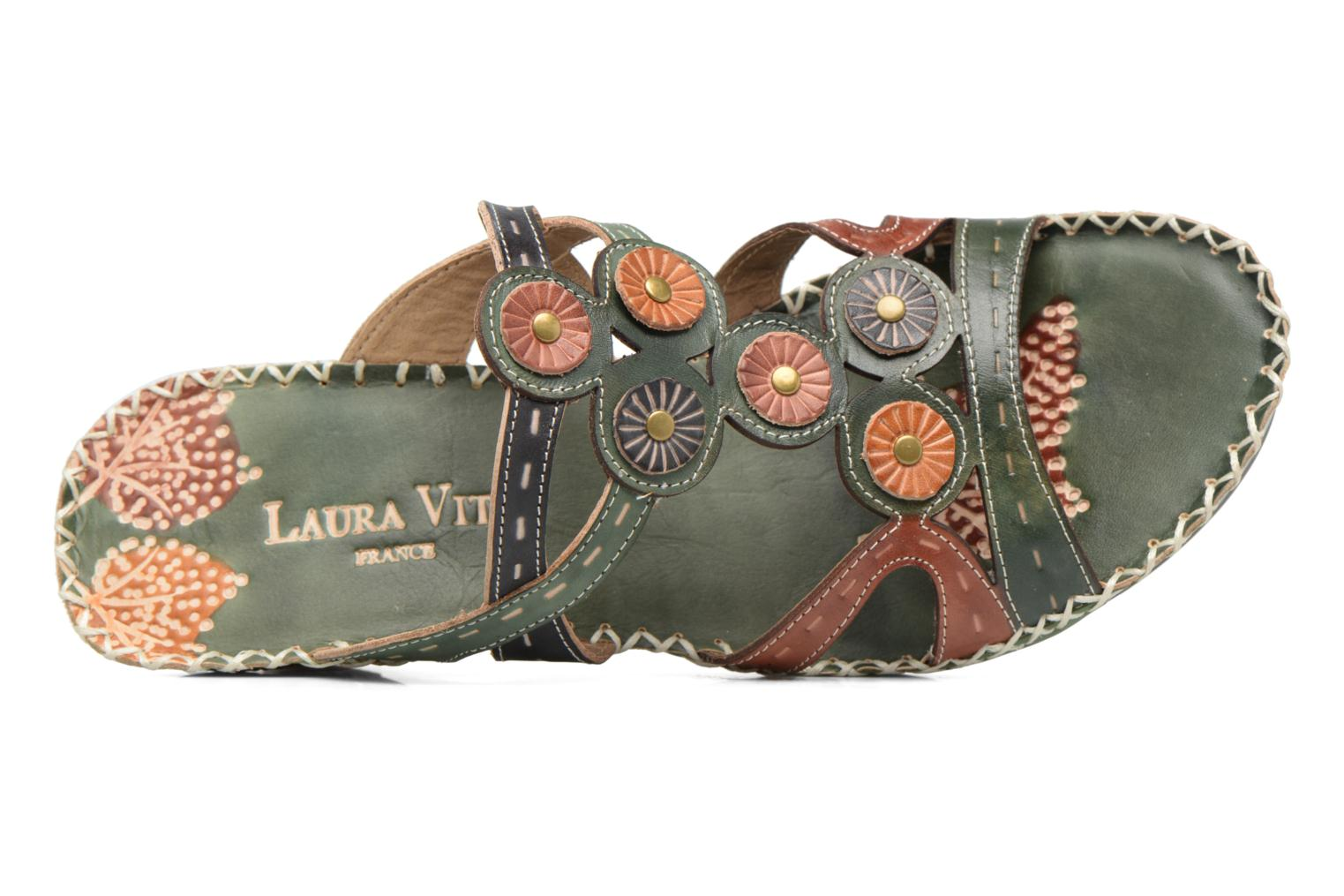Mules & clogs Laura Vita Vana Green view from the left