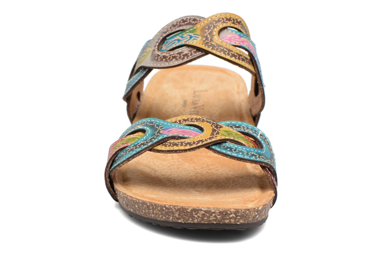 Sandales et nu-pieds Laura Vita Valbert Rouge vue portées chaussures
