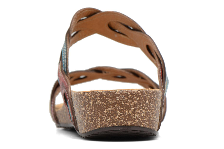 Sandales et nu-pieds Laura Vita Valbert Rouge vue droite