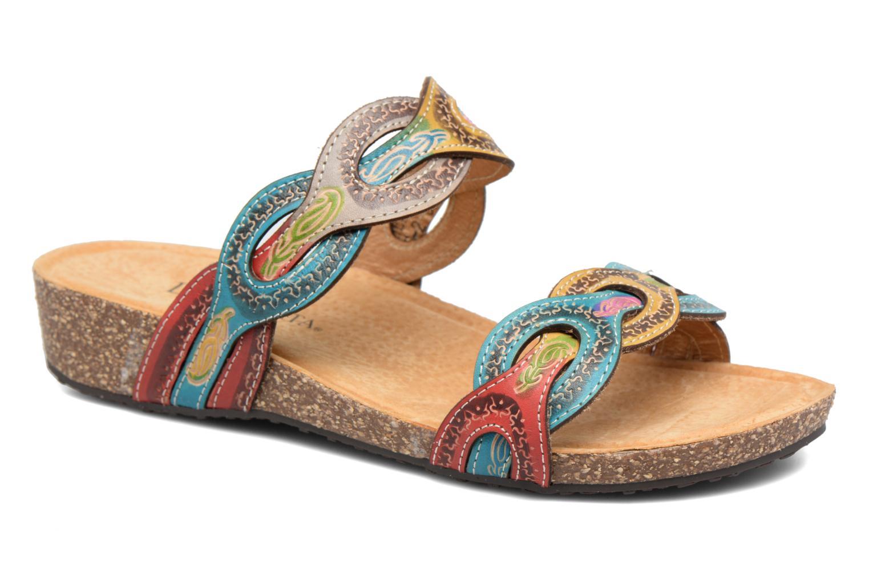 Sandales et nu-pieds Laura Vita Valbert Rouge vue détail/paire