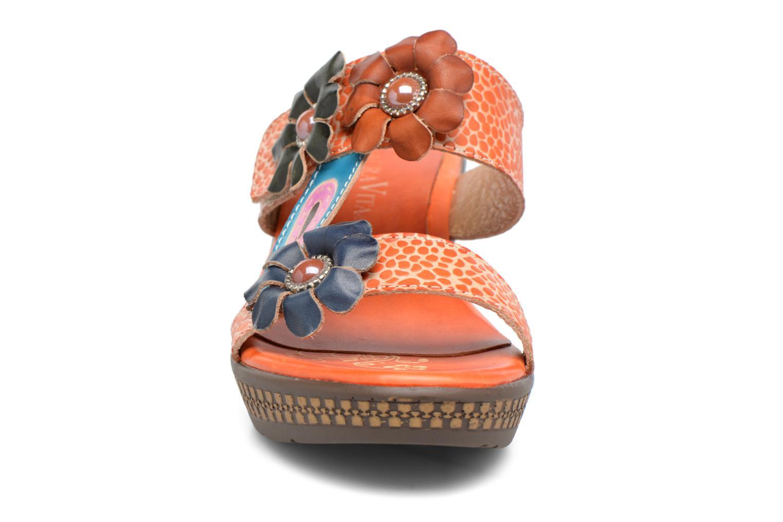 Mules et sabots Laura Vita Veda Orange vue portées chaussures
