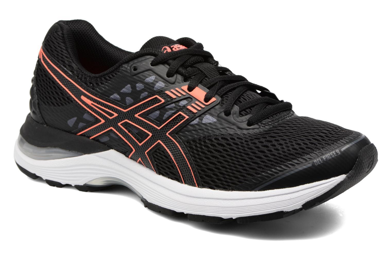 Chaussures de sport Asics Gel-Pulse 9 W Noir vue détail/paire