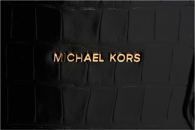 Bolsos de mano Michael Michael Kors MERCER LG DOME SATCHEL Negro vista lateral izquierda