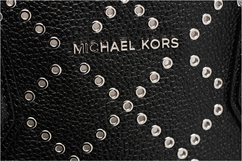 Sacs à main Michael Michael Kors MERCER STUD&GROMMET LG CONV TOTE Noir vue gauche
