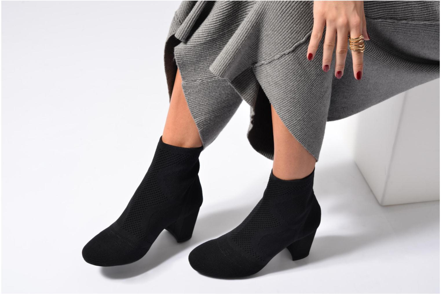THOSET Stretch BLACK KNITTED