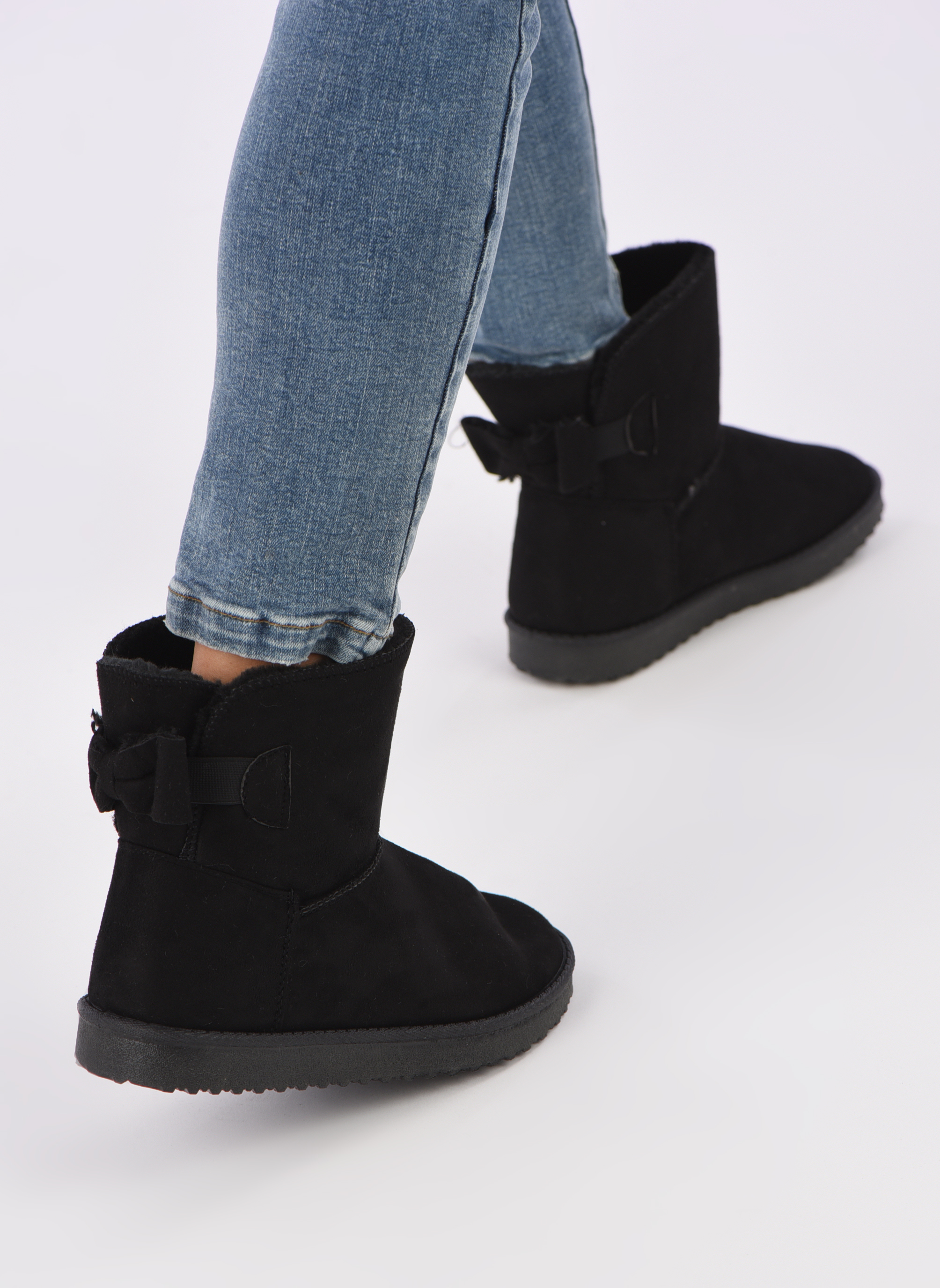 Ankle boots I Love Shoes THOUCHAUD Black view from underneath / model view