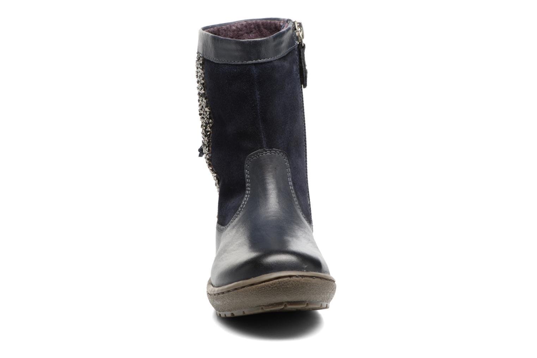 Bottes Gioseppo Chilton Bleu vue portées chaussures