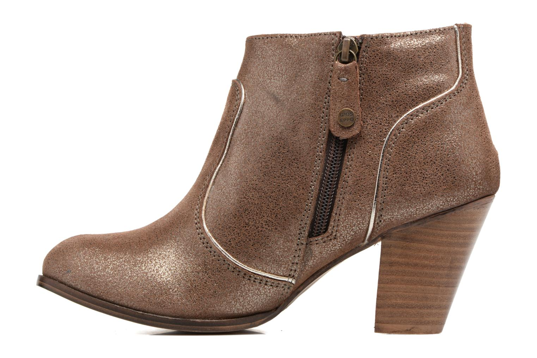 Bottines et boots Gioseppo Pensilvania Or et bronze vue face