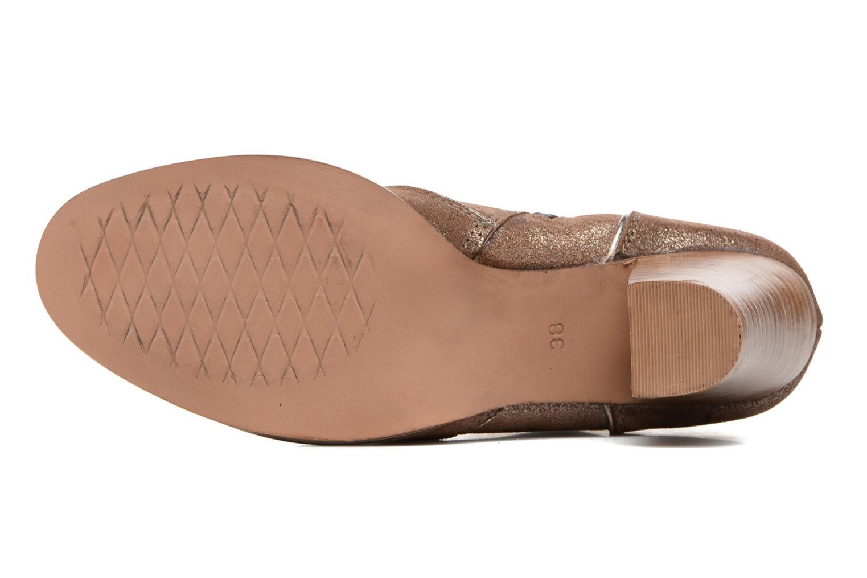 Bottines et boots Gioseppo Pensilvania Or et bronze vue haut
