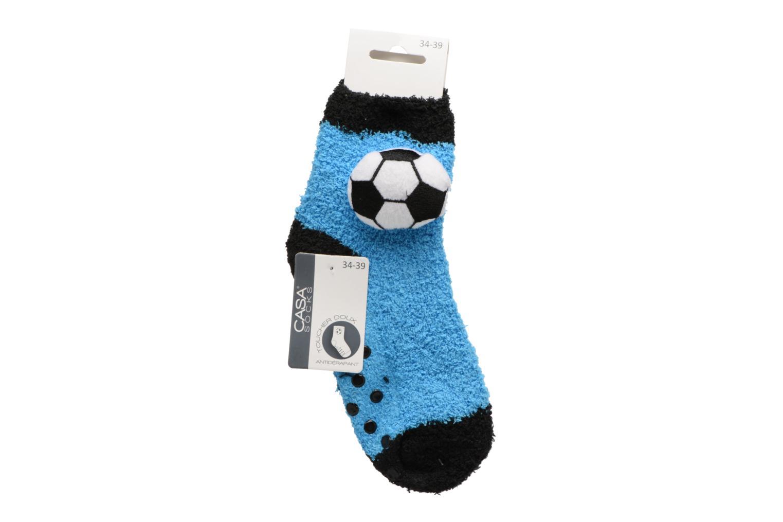 Chaussettes et collants Sarenza Wear Chaussons Chaussette Garçon Foot Antidérapantes Bleu vue portées chaussures