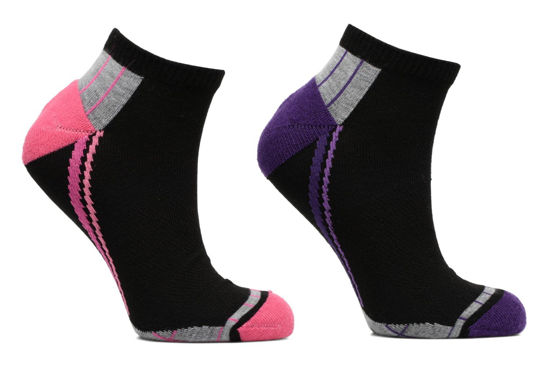 Socquettes courte sprt X-temp Lot de 2 Noir / violet indigo