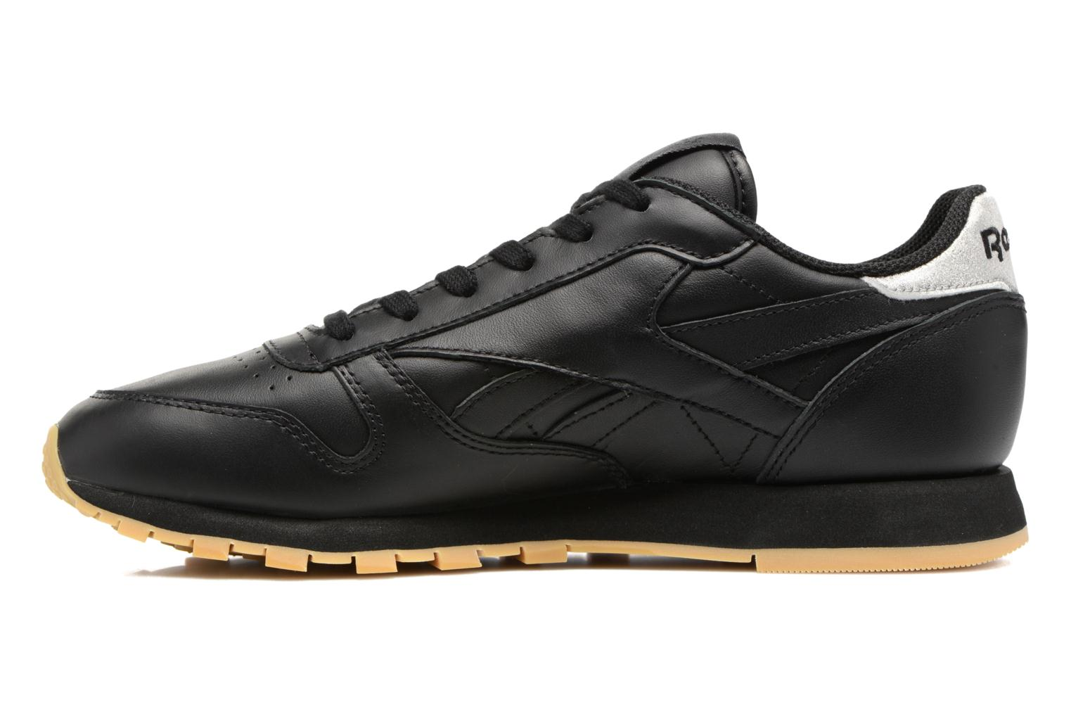 Baskets Reebok Cl Lthr Met Noir vue face