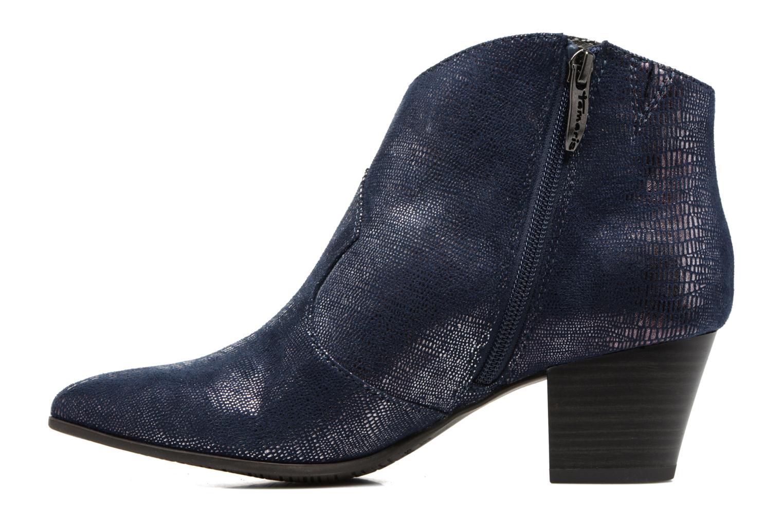 Bottines et boots Tamaris Westerna Bleu vue face