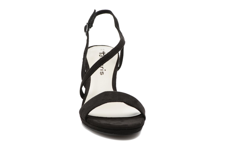 Sandales et nu-pieds Tamaris Festivala Noir vue portées chaussures