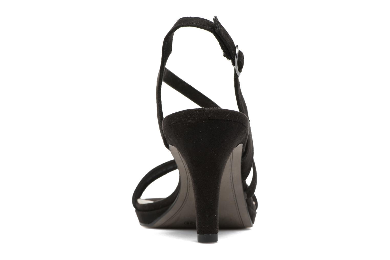 Sandales et nu-pieds Tamaris Festivala Noir vue droite