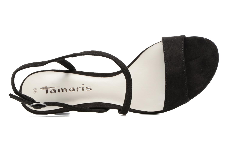 Sandales et nu-pieds Tamaris Festivala Noir vue gauche