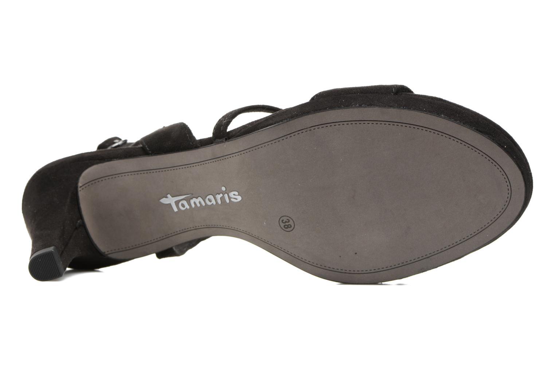 Sandales et nu-pieds Tamaris Festivala Noir vue haut