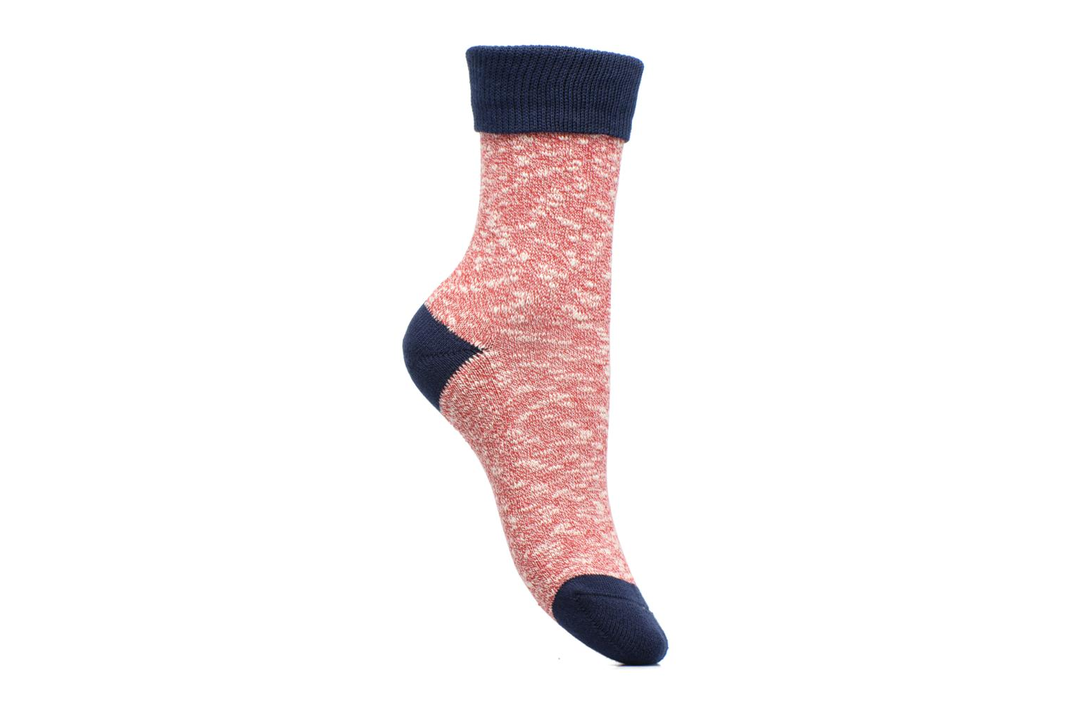 Chaussettes Femme Cocooning Coton Rouge / Marine