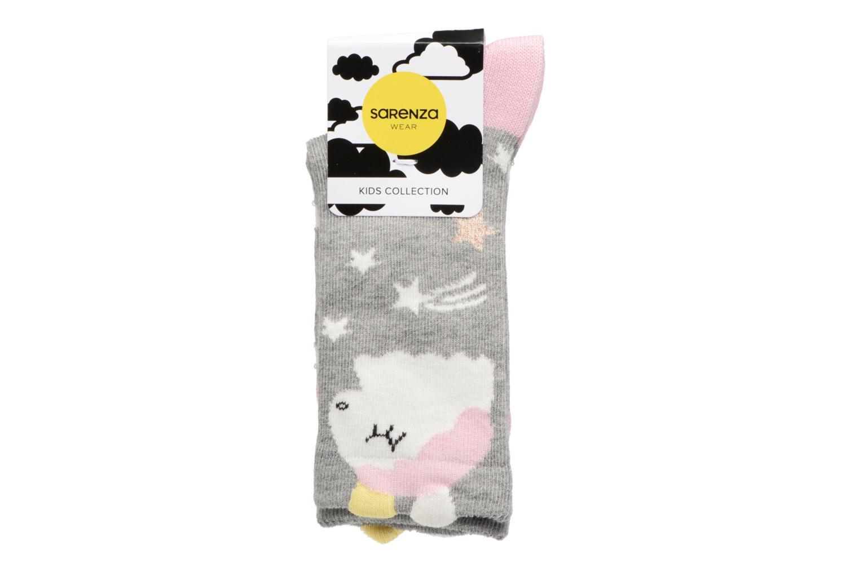 Chaussettes Fille Licorne Coton Gris