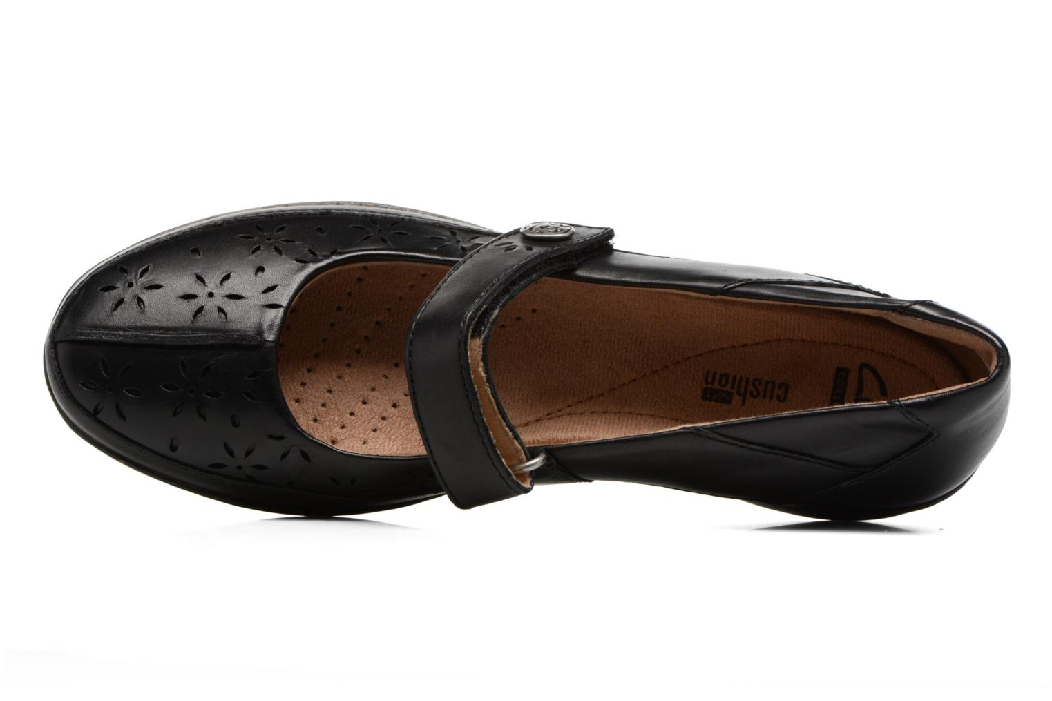 Ballet pumps Clarks Everlay Bai Black view from the left