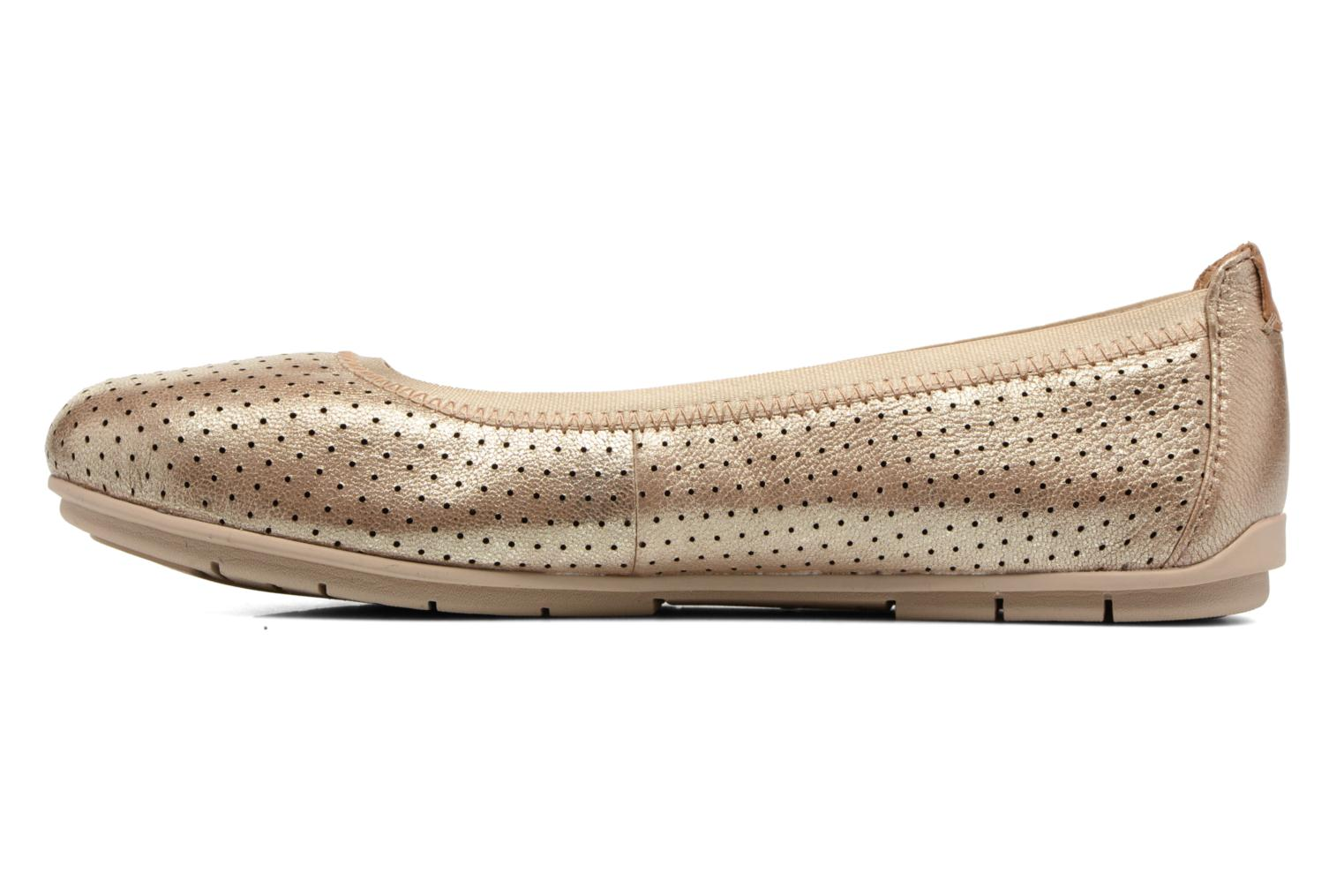 Ballet pumps Clarks Un Tract Bronze and Gold front view