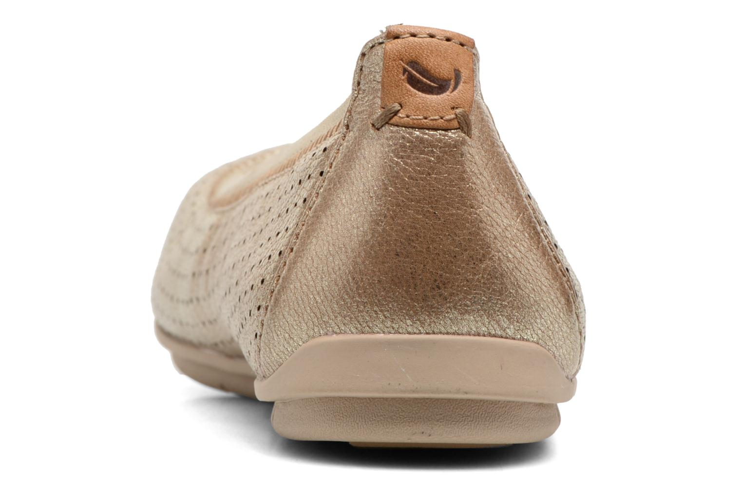 Ballet pumps Clarks Un Tract Bronze and Gold view from the right