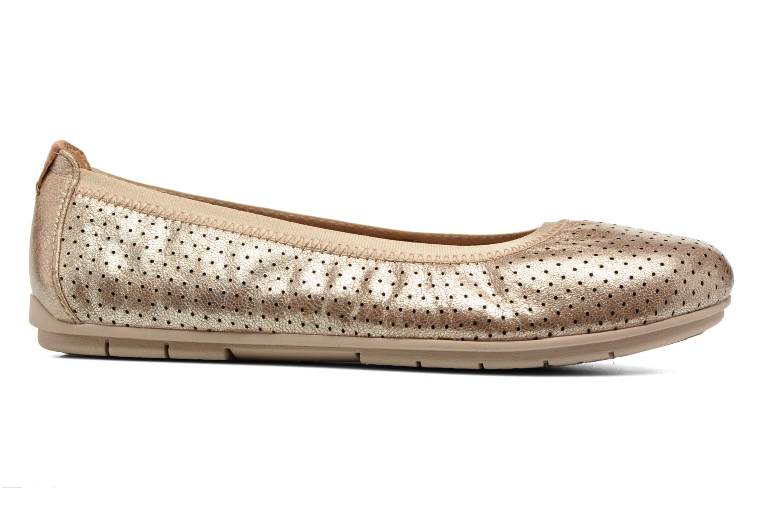 Ballet pumps Clarks Un Tract Bronze and Gold back view