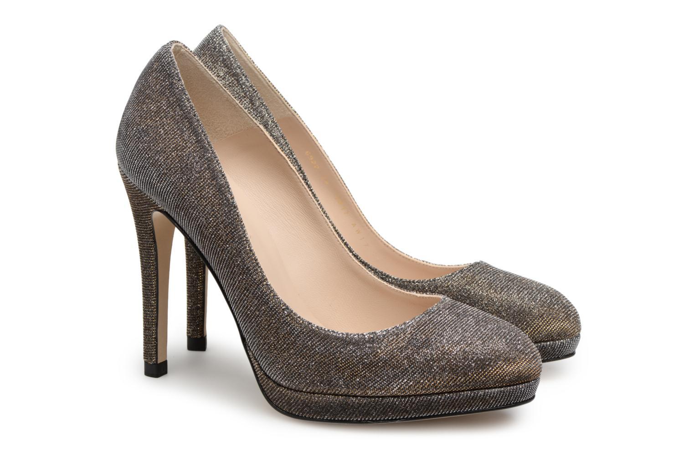 High heels L.K. Bennett New Sledge Bronze and Gold 3/4 view