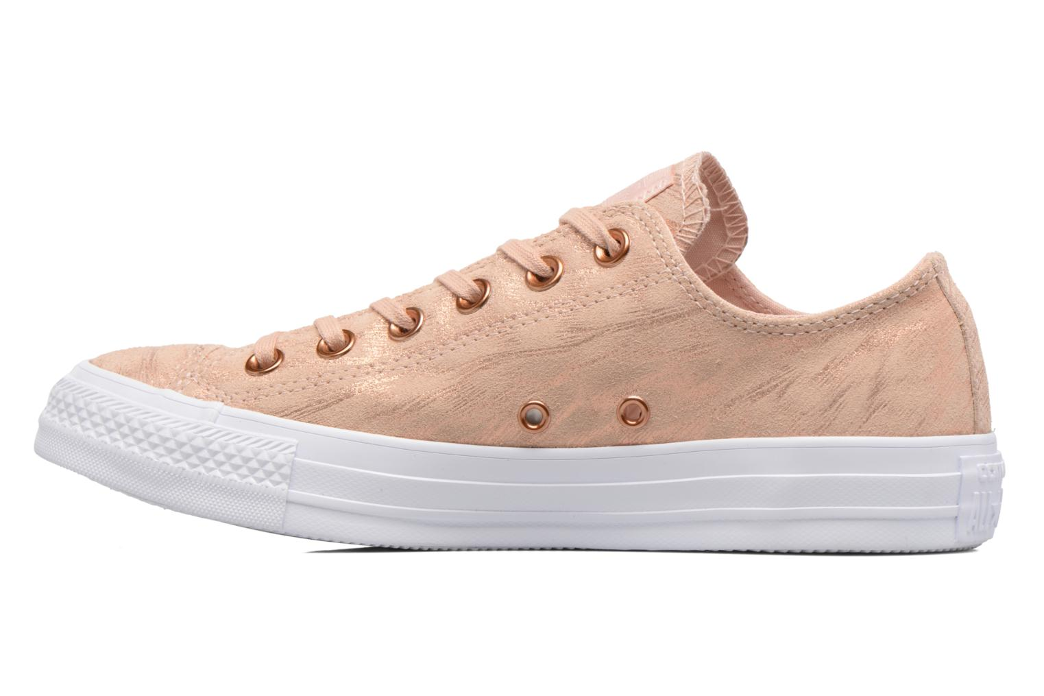 Baskets Converse Chuck Taylor All Star Shimmer Suede Ox Rose vue face