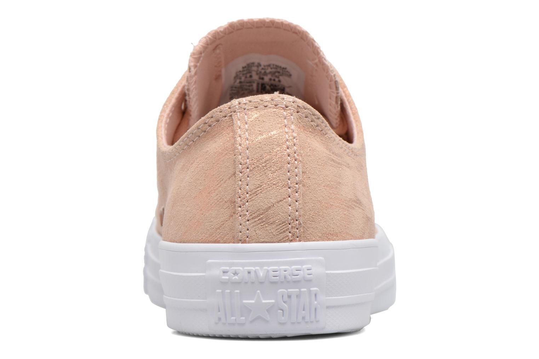 Sneaker Converse Chuck Taylor All Star Shimmer Suede Ox rosa ansicht von rechts