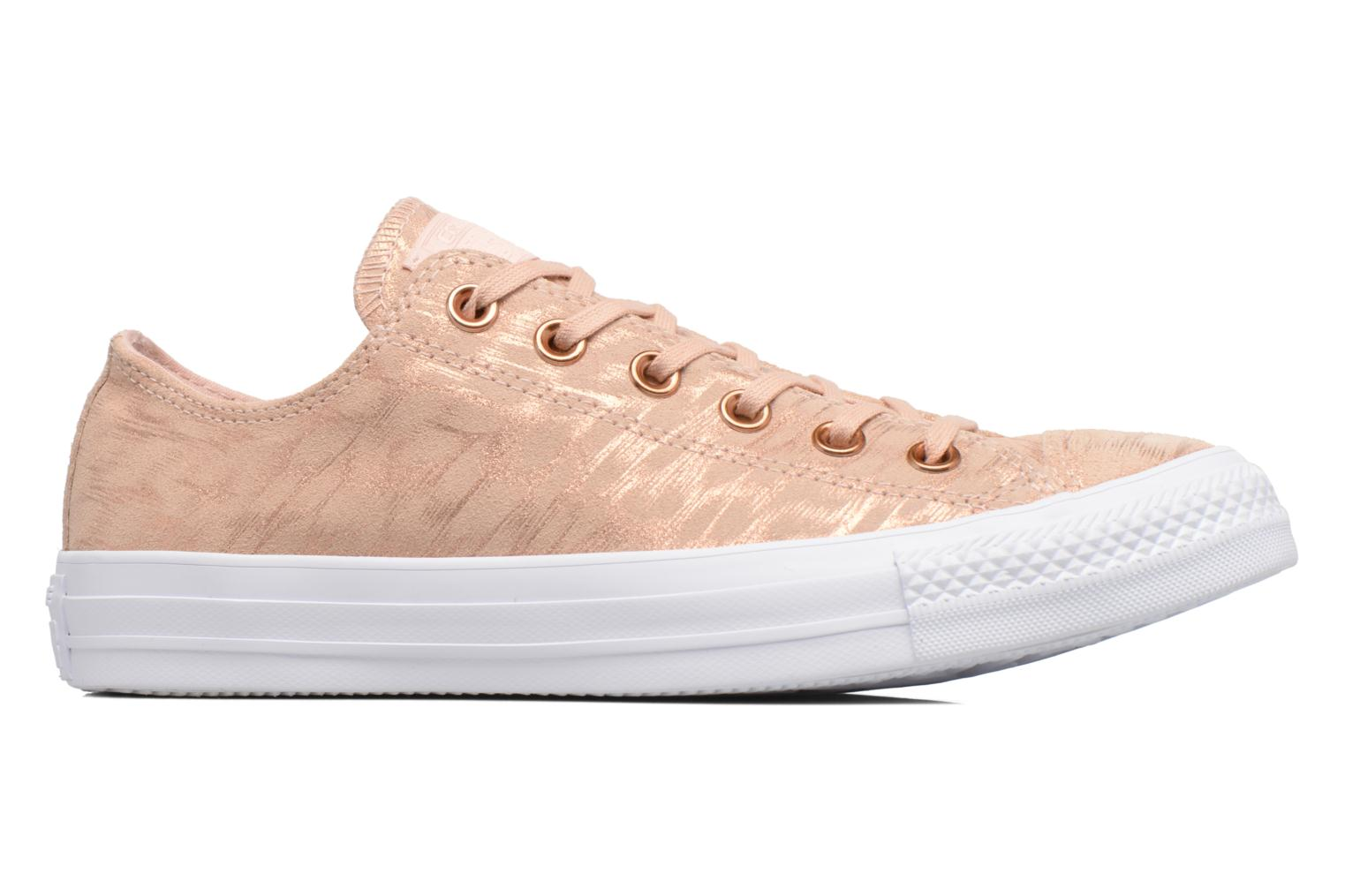 Sneakers Converse Chuck Taylor All Star Shimmer Suede Ox Roze achterkant