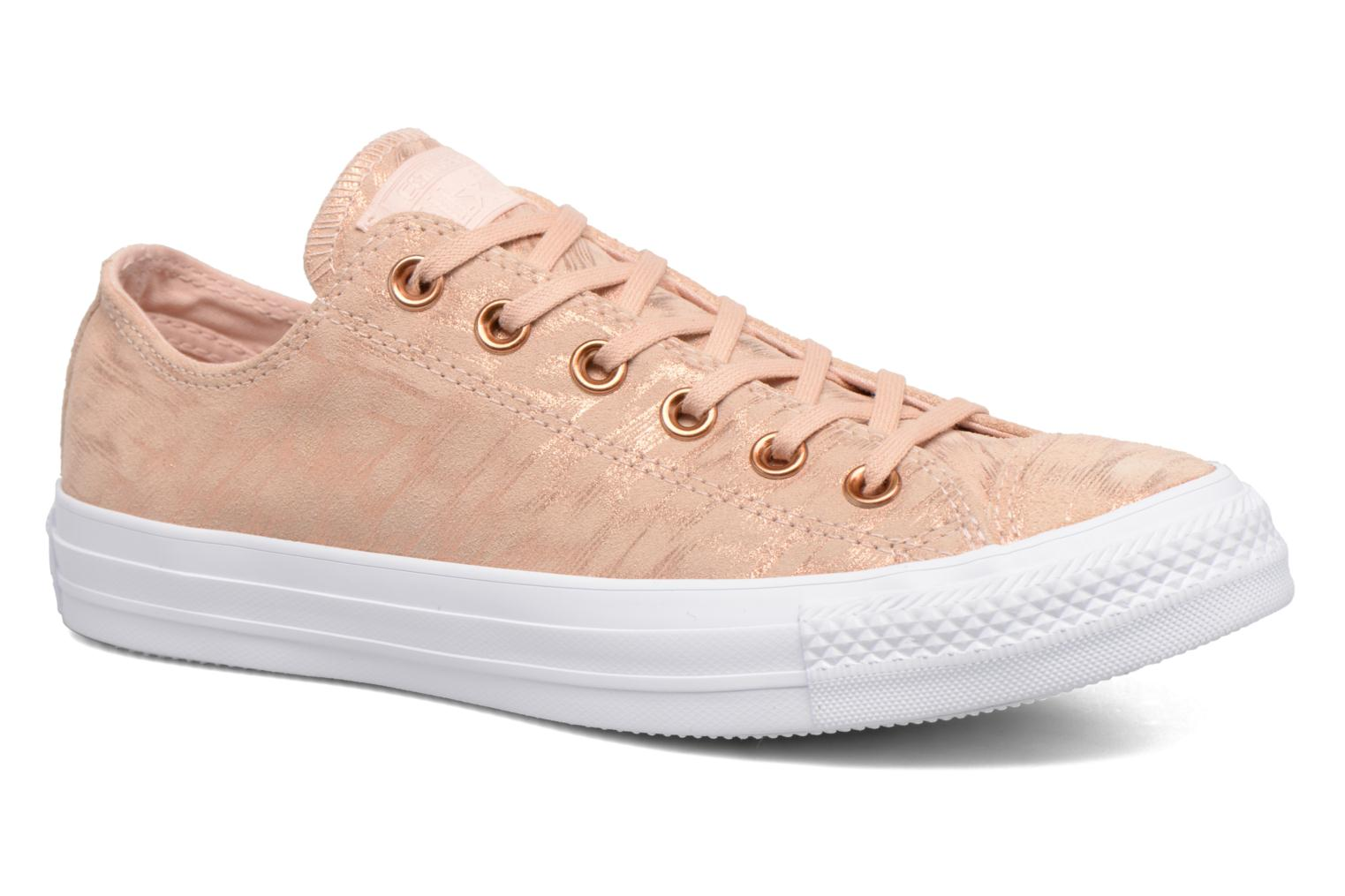 Baskets Converse Chuck Taylor All Star Shimmer Suede Ox Rose vue détail/paire