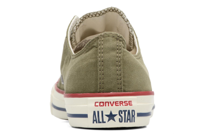 Baskets Converse Chuck Taylor All Star Ombre Wash Ox Vert vue droite