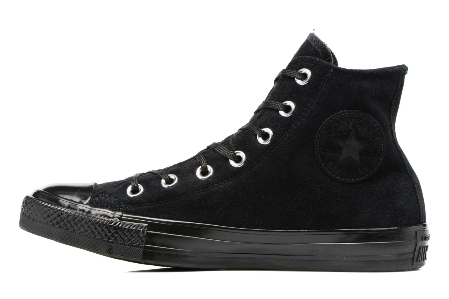 Baskets Converse Chuck Taylor All Star Mono Plush Suede Hi Noir vue face