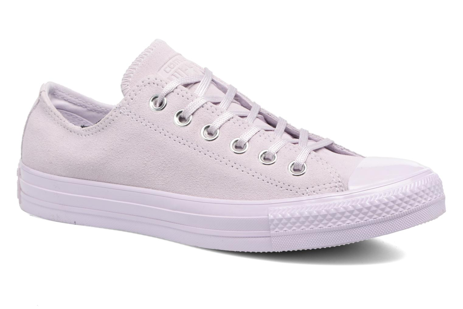 Marques Chaussure femme Converse femme Chuck Taylor All Star Mono Plush Suede Ox Barely Fuchsia/Barely Fuchsia/Barely Fuchsia