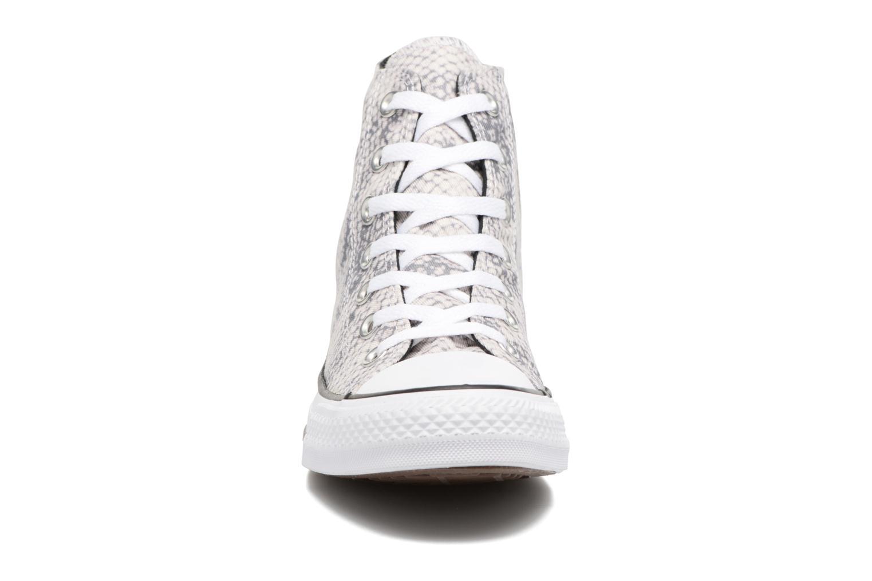 Baskets Converse Chuck Taylor All Star Lurex Snake Hi Blanc vue portées chaussures
