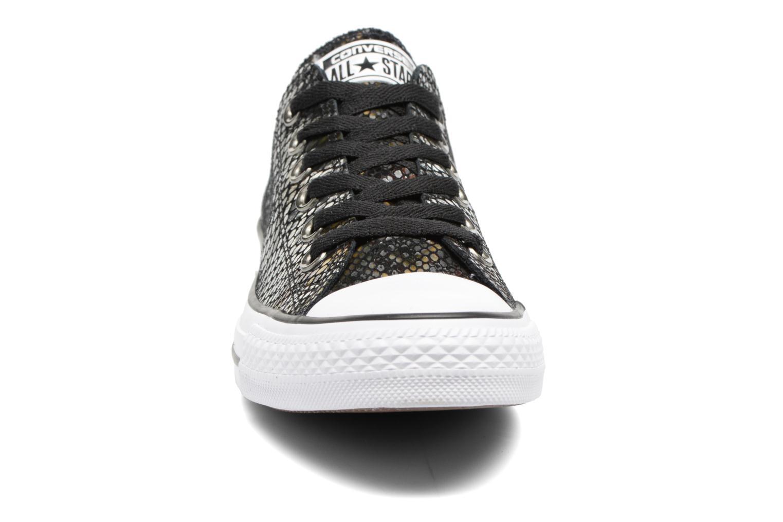 Baskets Converse Chuck Taylor All Star Fashion Snake Ox Noir vue portées chaussures