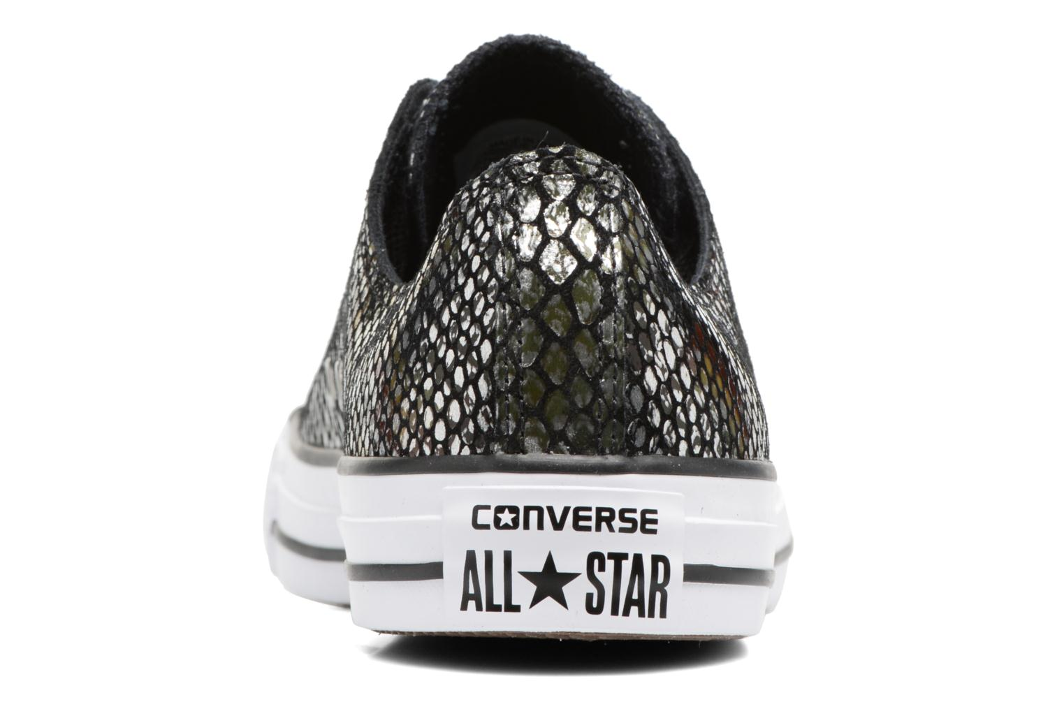 Baskets Converse Chuck Taylor All Star Fashion Snake Ox Noir vue droite