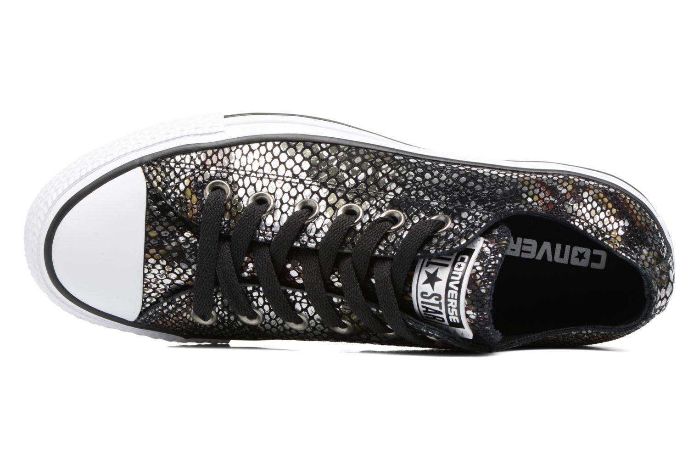 Baskets Converse Chuck Taylor All Star Fashion Snake Ox Noir vue gauche