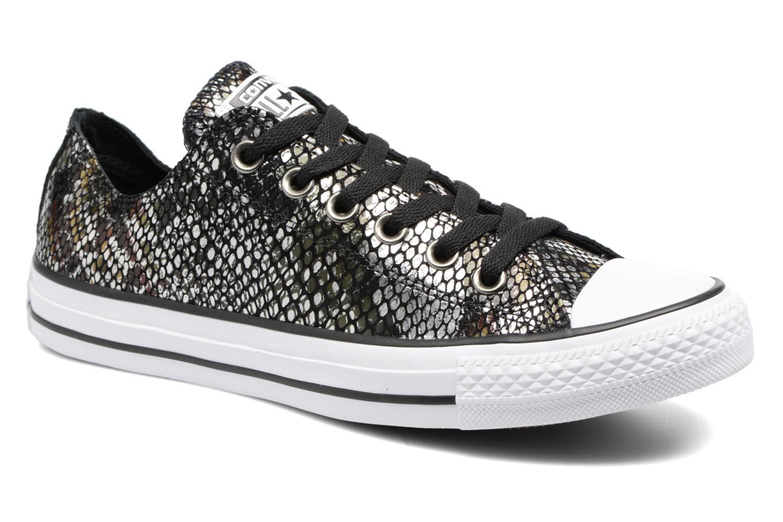 Baskets Converse Chuck Taylor All Star Fashion Snake Ox Noir vue détail/paire