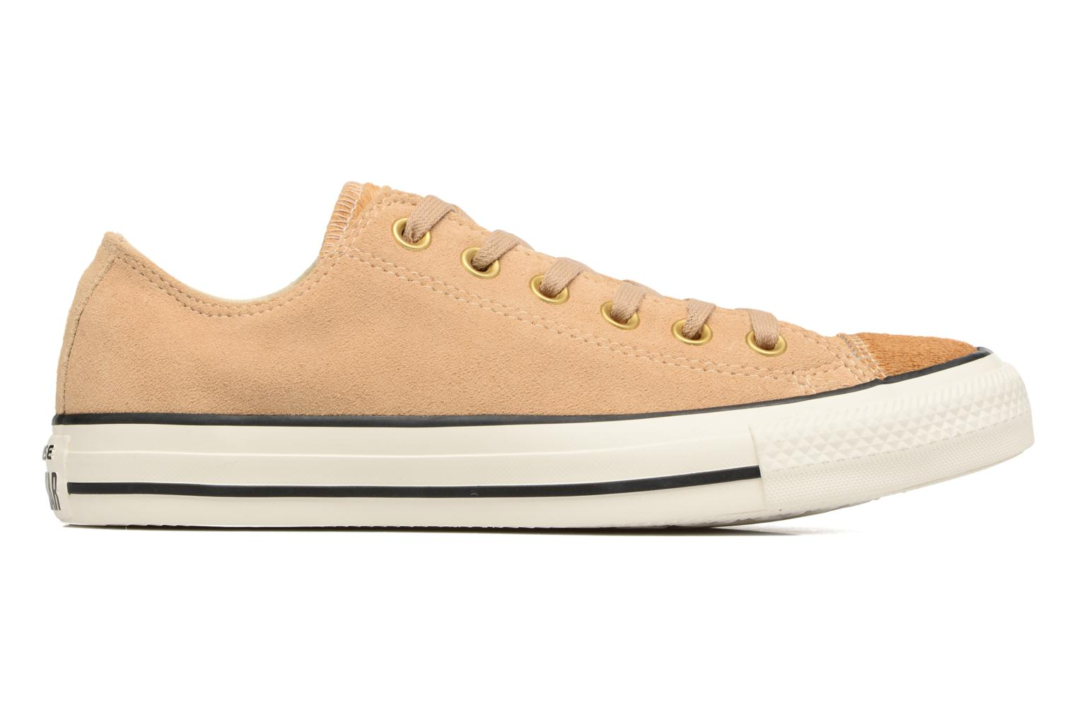 Sneakers Converse Chuck Taylor All Star Pony Hair Ox Beige achterkant