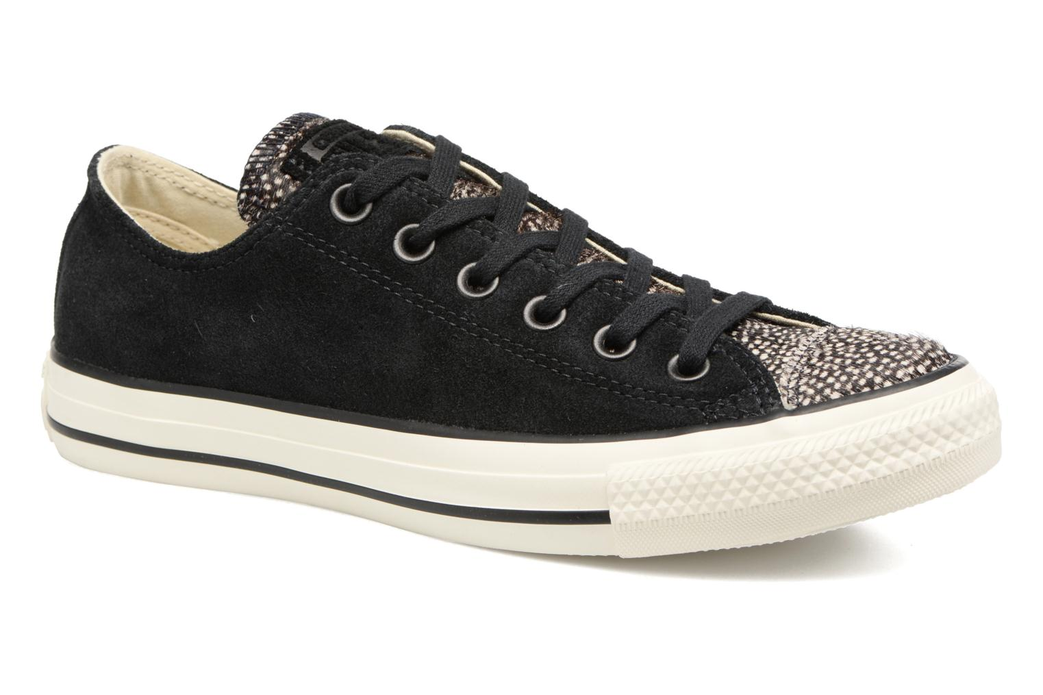 Baskets Converse Chuck Taylor All Star Pony Hair Ox Noir vue détail/paire