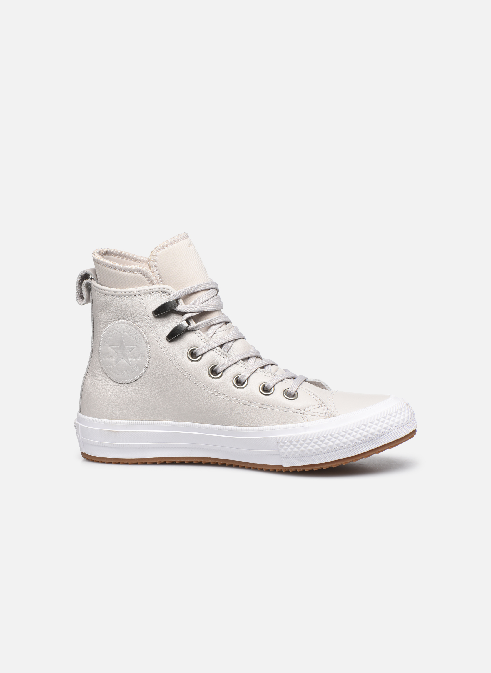 Baskets Converse Chuck Taylor WP Boot WP Leather Hi Gris vue derrière
