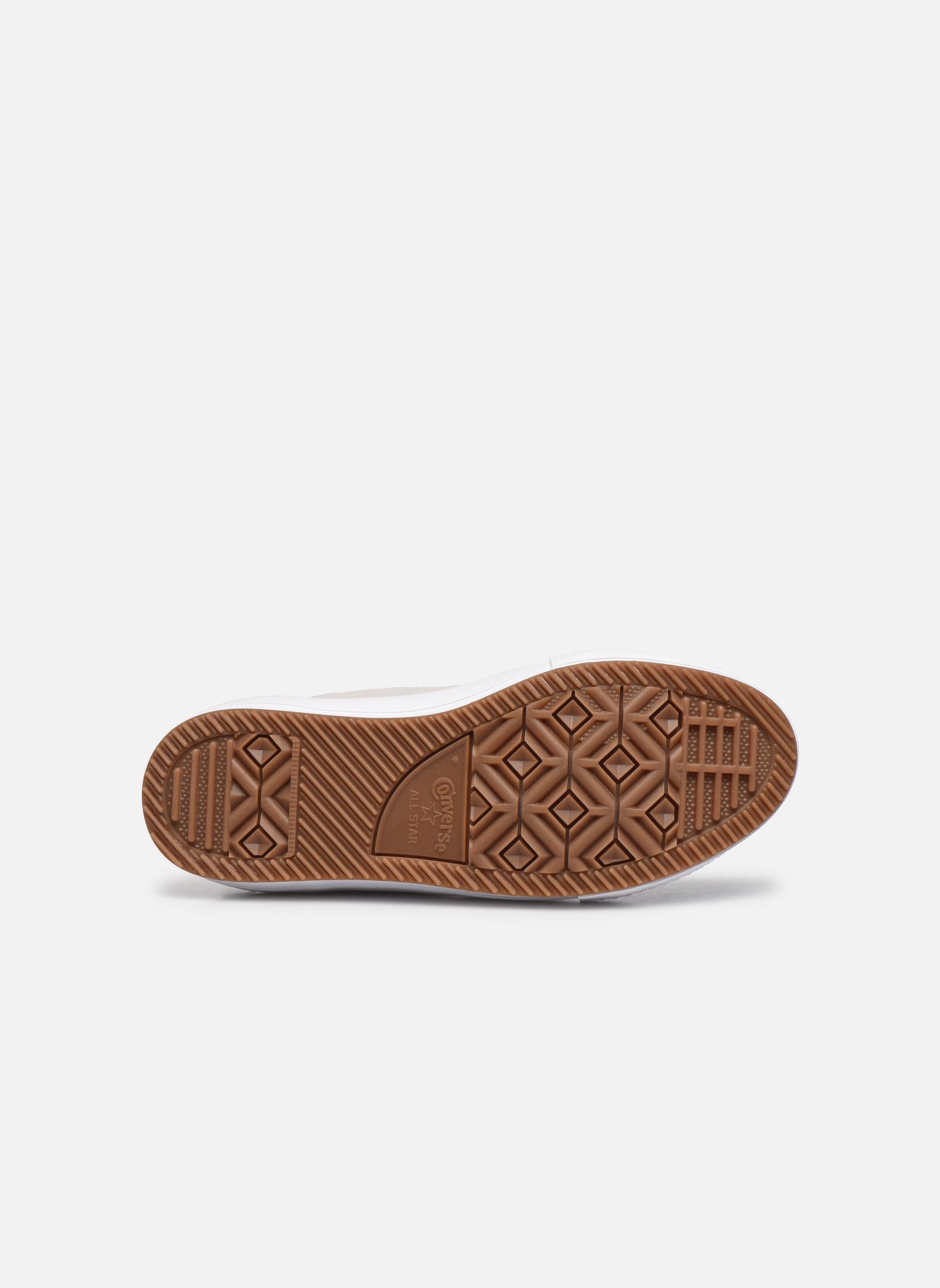Baskets Converse Chuck Taylor WP Boot WP Leather Hi Gris vue haut