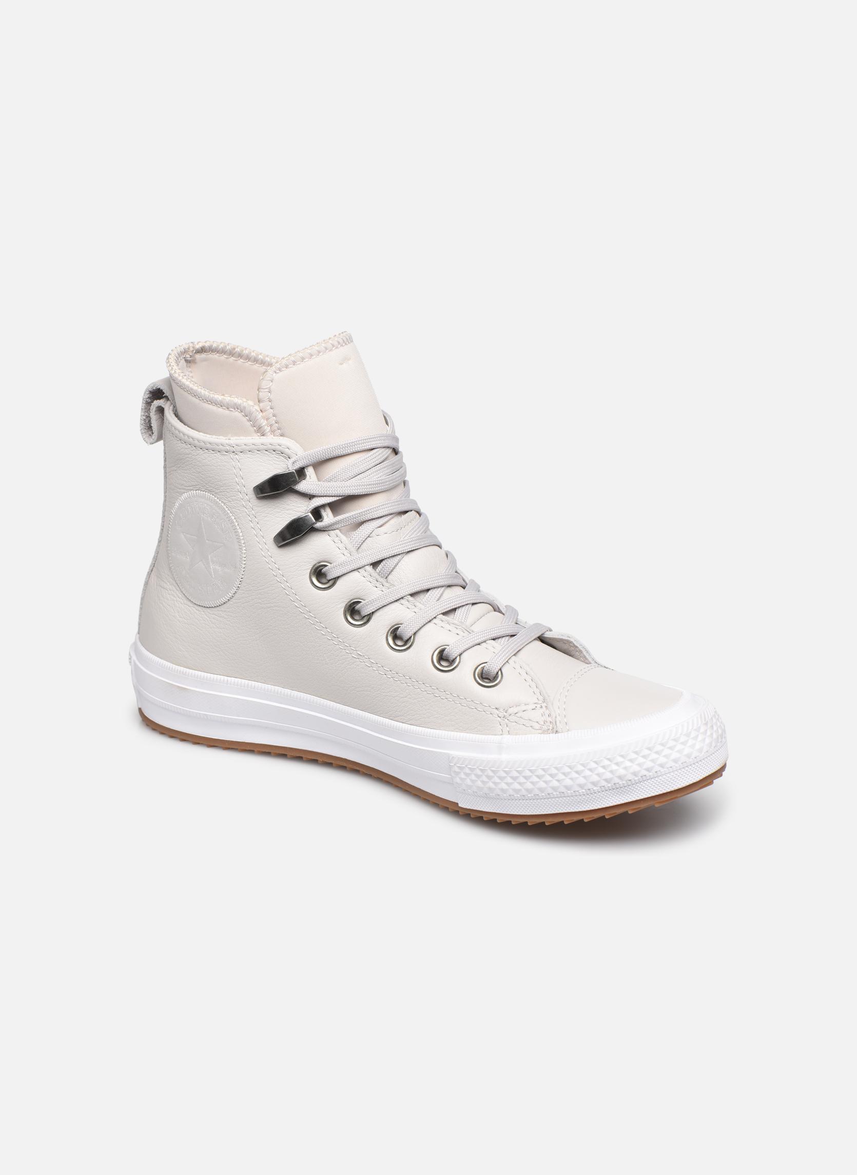 Deportivas Converse Chuck Taylor WP Boot WP Leather Hi Gris vista de detalle / par