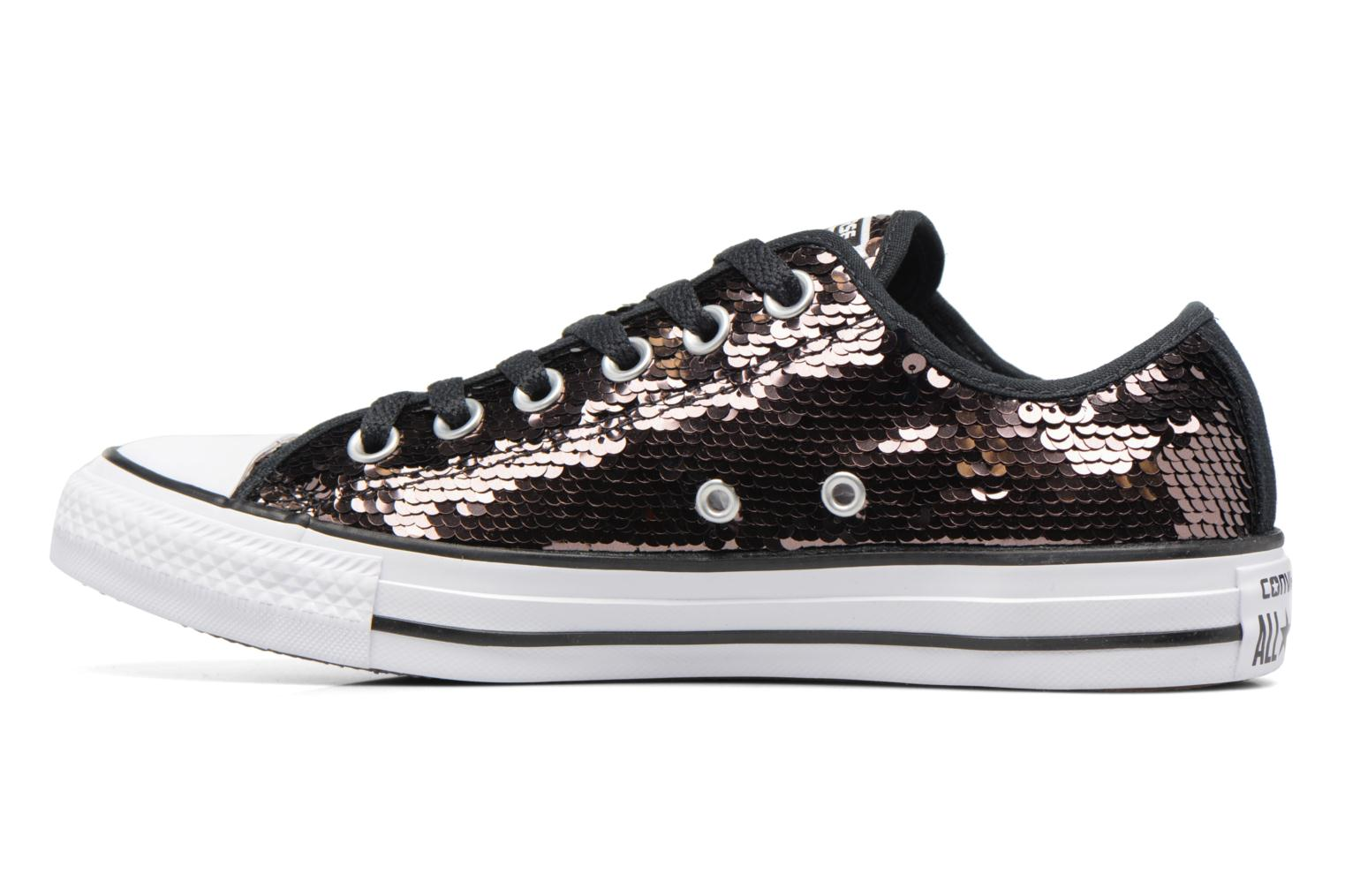 Baskets Converse Chuck Taylor All Star Sequins Ox Marron vue face