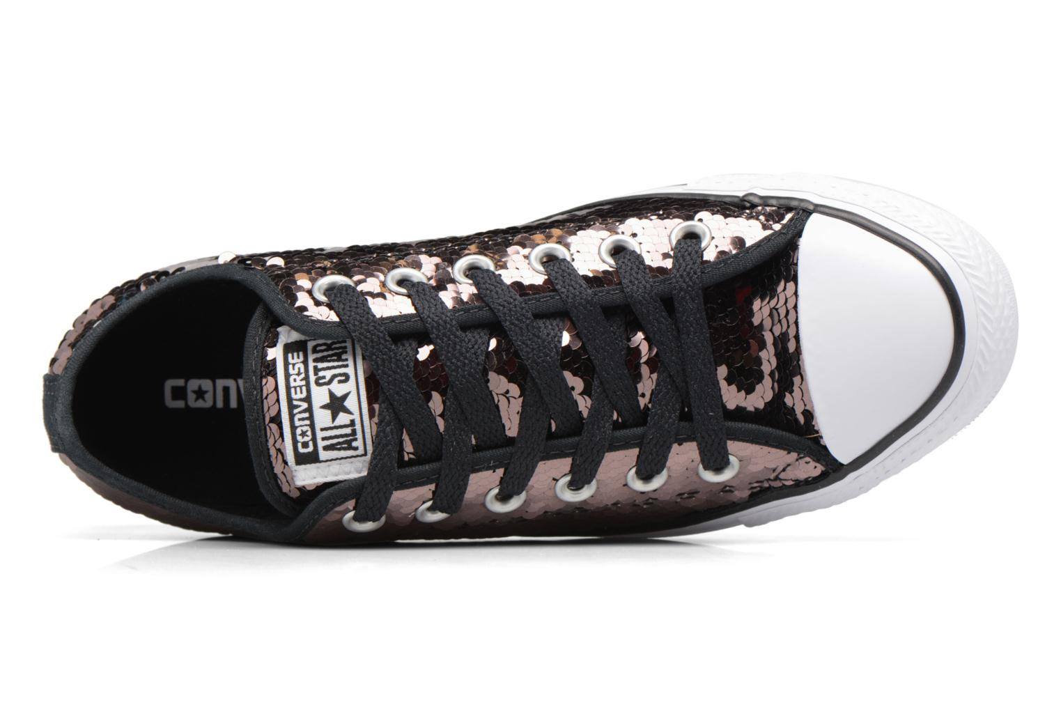 Baskets Converse Chuck Taylor All Star Sequins Ox Marron vue gauche