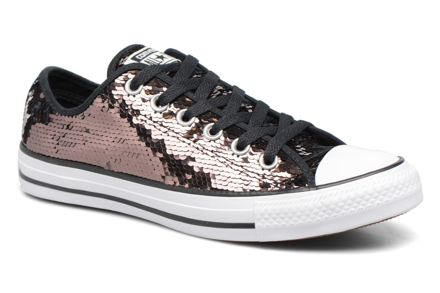 Baskets Converse Chuck Taylor All Star Sequins Ox Marron vue détail/paire